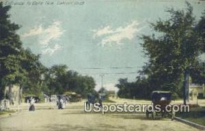 Belle Isle Detroit MI 1916 Missing Stamp