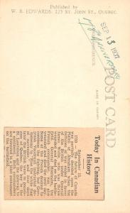 E26/ Quebec Canada Real Photo RPPC Postcard 1937 Wolfe & Montcalm Monument
