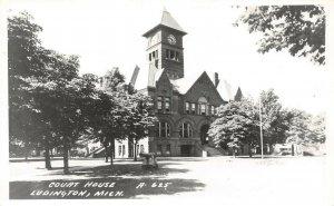 LPM45 Ludington Court House  Michigan RPPC Postcard