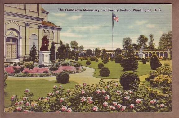 Franciscan Monastery Rosary Portico - Washington, DC postcard