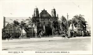 australia, BRISBANE, Q., Museum & Art Gallery Building (1952) Sidues RPPC