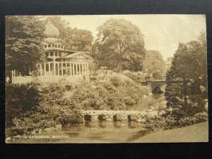 Derbyshire BUXTON The Gardens Showing COLLINSONS CAFE c1916 Postcard by Boots