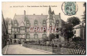 Old Postcard Beauvais View interieuree courthouse