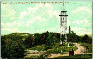 1908 Chattanooga TN Postcard Bragg's Headquarters, Missionary Ridge Civil War