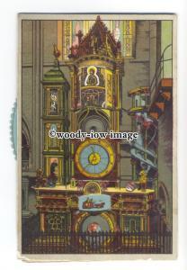su3134 - Astronomical Clock in Strasburg Cathedral - Rotating Wheel postcard