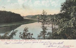 Scene on Lower Genesee River - Rochester, New York - pm 1907 - UDB