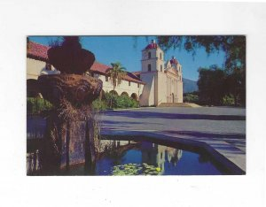 Vtg 50's/60's Mission Santa Barbara Reflections, California Postcard