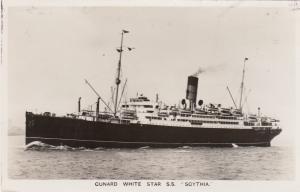 RP, Steamer/Oceanliner/Ship, Cunard White Star S. S. Scythia, 1920-1940s