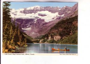 Canoeing, Lake Louise, Banff National Park, Alberta, Photo Canadian Pacific R...