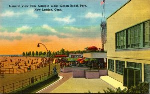 Connecticut New London Ocean Beach Park General View From Captain Walk 1955