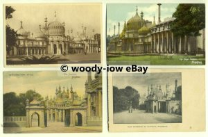 tp0011 - Sussex - Views x 4 of Brighton Pavilion, Brighton - Postcard