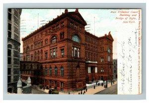 Criminal Court Buildings, Bridge of Sighs, NY City Prison c1906 Postcard M3