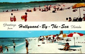 Florida Hollywood By The Sea Greetings Showing Beach 1961