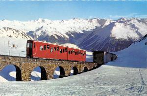 Incline Railroad Train Davos Bahn Switzerland postcard