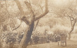 RP: BOOTHBAY HARBOR  , Maine , 1910s ; Chair out at the Garden