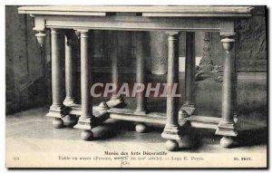 Old Postcard Musee des Arts Decoratifs Walnut table Legs Peyre