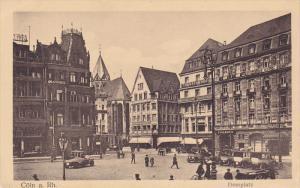 COLN, North Rine Westphalia, Germany, 1900-1910's; Domplatz