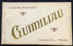 "Postcard Unused ""Guimiliau"" 12 Detachable  cards scenes in Paris France 1914"