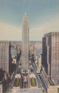 New York City R C A Building Rockefeller Center Curteich