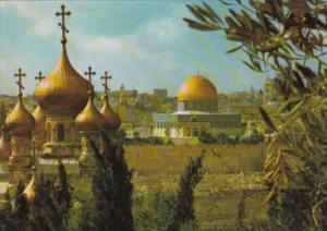 Israel Jerusalem Church Of St Mary Magdalene and Dome Of The Rock