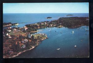 Christmas Cove, Maine/ME Postcard, Beautiful Aerial View Of Harbor