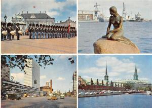 Denmark Copenhagen Palace Guards Statue Vintage Cars Voitures Mercedes Benz