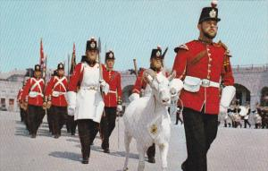 Canada Ontario Kington Old First Henry Fort Henry Guard Being Led On Parade B...