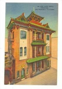 Kong Chow Temple, Chinatown, San Fransico, California, 30-40s