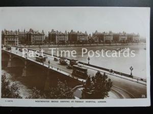 c1932 RP - St. Thomas' Hospital, Westminster Bridge, London
