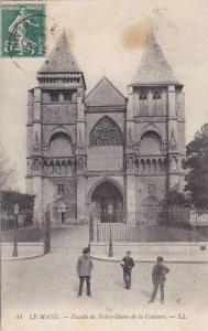 France Le Mans Facade de Notre Dame de la Couture 1912