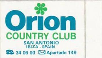SPAIN SAN ANTONIO ORION COUNTRY CLUB VINTAGE LUGGAGE LABEL