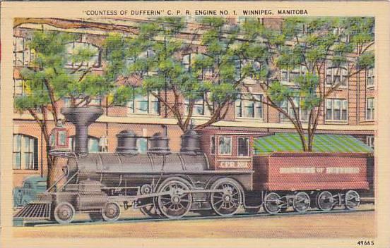 Countess of Dufferin C.P.R. Engine No. 1, Winnipeg, Manitoba, Canada,   30-40s