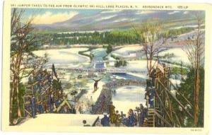 Linen of Olympic Ski Jump Hill Lake Placid NY New York