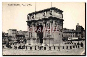 Old Postcard Marseille Porte d'Aix