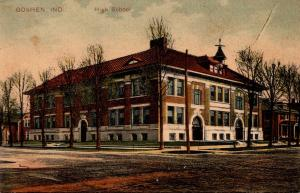 High School Goshen Indiana 1908