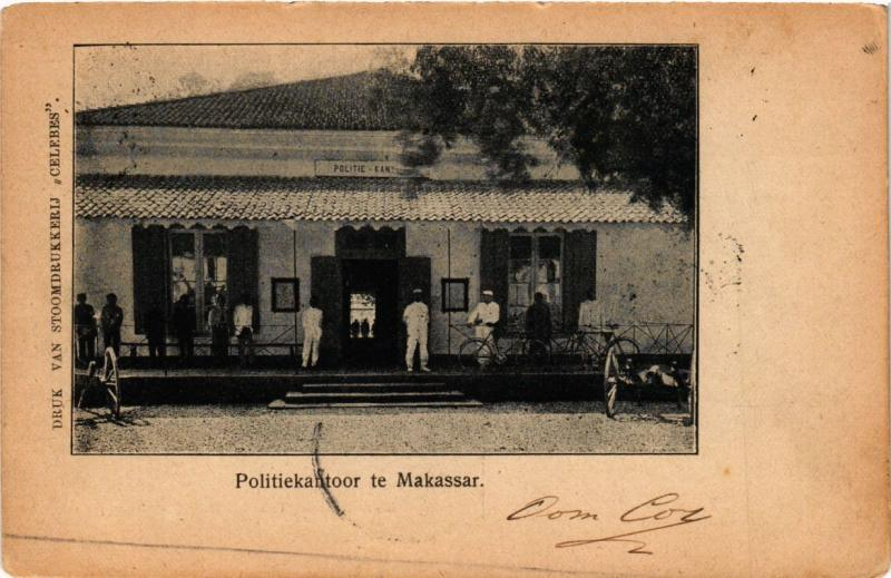 INDONESIA PC DUTCH INDIES - CELEBES - Politiekantoor te Makassar (a1757)