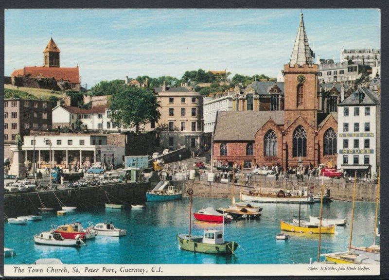 Channel Islands Postcard - Town Church, St Peter Port, Guernsey RR4757
