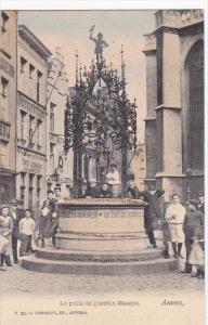 Le Puits De Quentin Massys, ANVERS (Antwerpen), Belgium, 1900-1910s Glitter D...
