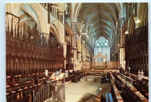UK United Kingdom Inside Interior View of Lincoln Cathedral 4x6 Postcard A48