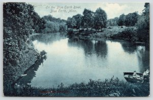 Blue Earth Minnesota~Kids Rowboating on the Blue Earth River~1909 Scenic