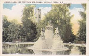 Rhode Island Central Falls The Fountain and Tower In Jenl's Park