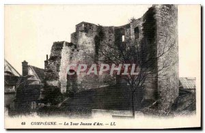Old Postcard Compiegne Tour Jeanne d'Arc