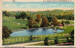 West Virginia Parkersburg W H Bickel's Estate Curteich