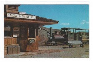 Calico & Odessa Railroad Train Depot Mining Ghost Town CA Vintage RR Postcard