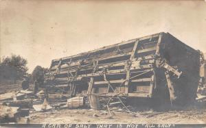 Grand Forks ND& St Paul RPO~RPPC Train Salt Boxcar Derailment~Engine 413~1907