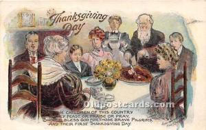 Thanksgiving Greetings Postcard Artist FC Lounsbury