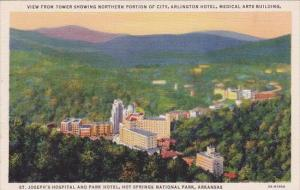 View From Tower Showing Northern Portion Of City Hot Springs National Park