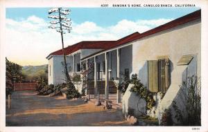 Ramona's Home, Camulos Ranch, California, Early Postcard, Unused
