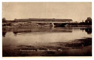 Maine  Bethel , Androscoggin Covered bridge , RPC