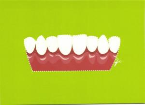 Set of Teeth to Cut Out, Dentist, Dutch Comic Mouth Care Edition
